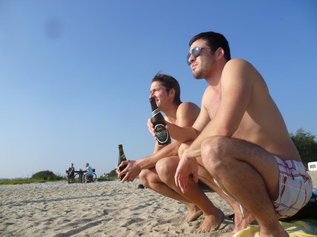 Říjnová fotka z pláže s dánským pivkem