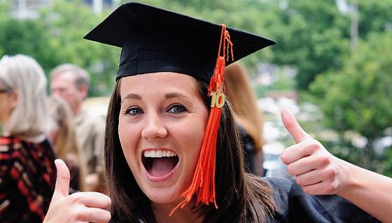 Šťastný student, protože studuje v Dánsku